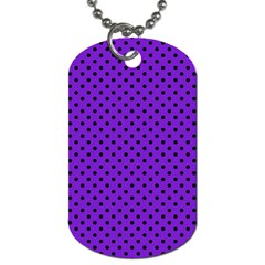 Polka Dots Dog Tag (one Side) by Valentinaart