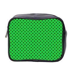Polka Dots Mini Toiletries Bag 2 Side by Valentinaart