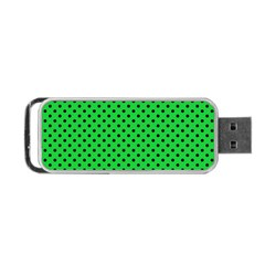 Polka Dots Portable Usb Flash (one Side) by Valentinaart