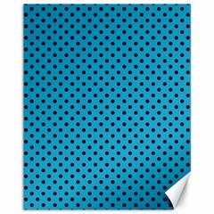 Polka Dots Canvas 11  X 14   by Valentinaart