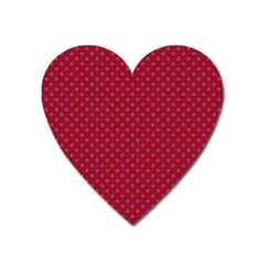 Polka Dots Heart Magnet by Valentinaart