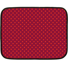 Polka Dots Fleece Blanket (mini) by Valentinaart