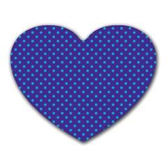 Polka Dots Heart Mousepads by Valentinaart