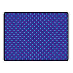 Polka Dots Fleece Blanket (small) by Valentinaart