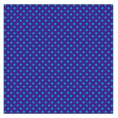 Polka Dots Large Satin Scarf (square) by Valentinaart
