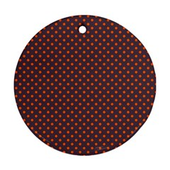 Polka Dots Ornament (round) by Valentinaart