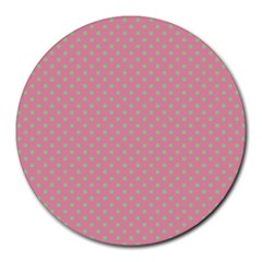 Polka Dots Round Mousepads by Valentinaart