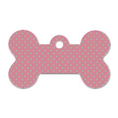Polka Dots Dog Tag Bone (one Side) by Valentinaart