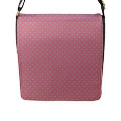 Polka Dots Flap Messenger Bag (l)  by Valentinaart