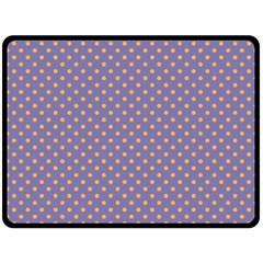 Polka Dots Fleece Blanket (large)  by Valentinaart