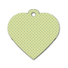 Polka Dots Dog Tag Heart (two Sides) by Valentinaart