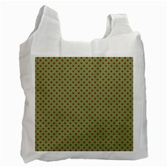 Polka Dots Recycle Bag (two Side)  by Valentinaart
