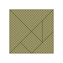 Polka Dots Acrylic Tangram Puzzle (4  X 4 ) by Valentinaart