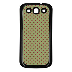 Polka Dots Samsung Galaxy S3 Back Case (black) by Valentinaart