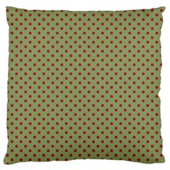 Polka Dots Large Flano Cushion Case (two Sides) by Valentinaart
