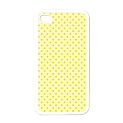 Polka Dots Apple Iphone 4 Case (white) by Valentinaart