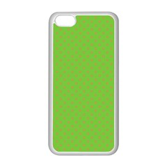 Polka Dots Apple Iphone 5c Seamless Case (white) by Valentinaart