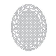 Polka Dots Oval Filigree Ornament (two Sides) by Valentinaart
