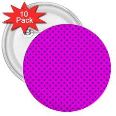 Polka Dots 3  Buttons (10 Pack)  by Valentinaart