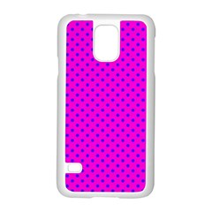 Polka Dots Samsung Galaxy S5 Case (white) by Valentinaart
