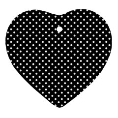 Polka Dots Heart Ornament (two Sides) by Valentinaart