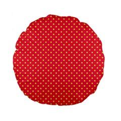 Polka Dots Standard 15  Premium Flano Round Cushions by Valentinaart