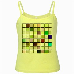 Color Tiles Abstract Mosaic Background Yellow Spaghetti Tank