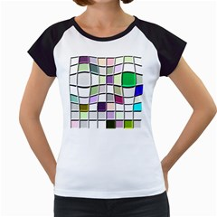 Color Tiles Abstract Mosaic Background Women s Cap Sleeve T by Simbadda