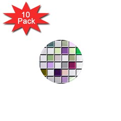 Color Tiles Abstract Mosaic Background 1  Mini Magnet (10 Pack)  by Simbadda