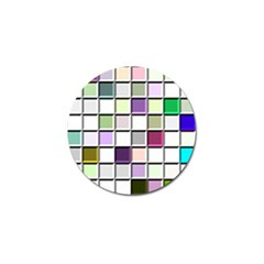 Color Tiles Abstract Mosaic Background Golf Ball Marker (4 Pack) by Simbadda