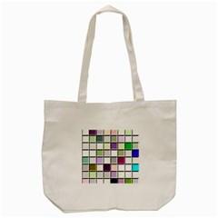 Color Tiles Abstract Mosaic Background Tote Bag (cream) by Simbadda
