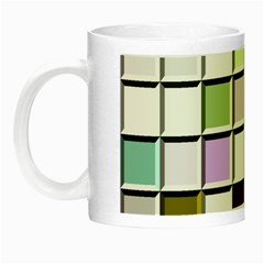 Color Tiles Abstract Mosaic Background Night Luminous Mugs by Simbadda