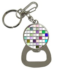 Color Tiles Abstract Mosaic Background Button Necklaces by Simbadda