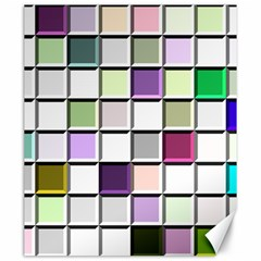 Color Tiles Abstract Mosaic Background Canvas 20  X 24   by Simbadda