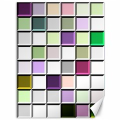 Color Tiles Abstract Mosaic Background Canvas 36  X 48   by Simbadda