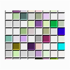 Color Tiles Abstract Mosaic Background Small Glasses Cloth (2 Side) by Simbadda