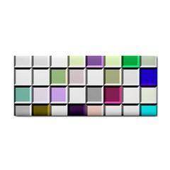 Color Tiles Abstract Mosaic Background Cosmetic Storage Cases by Simbadda