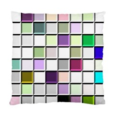 Color Tiles Abstract Mosaic Background Standard Cushion Case (two Sides) by Simbadda