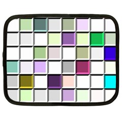 Color Tiles Abstract Mosaic Background Netbook Case (xxl)  by Simbadda