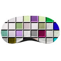 Color Tiles Abstract Mosaic Background Sleeping Masks by Simbadda