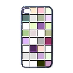 Color Tiles Abstract Mosaic Background Apple Iphone 4 Case (black) by Simbadda