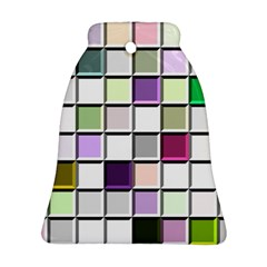 Color Tiles Abstract Mosaic Background Bell Ornament (two Sides) by Simbadda