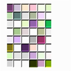 Color Tiles Abstract Mosaic Background Small Garden Flag (two Sides) by Simbadda