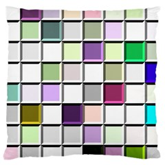 Color Tiles Abstract Mosaic Background Large Cushion Case (two Sides) by Simbadda