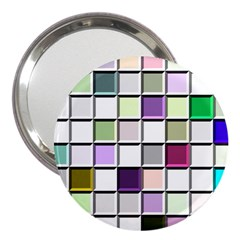 Color Tiles Abstract Mosaic Background 3  Handbag Mirrors by Simbadda