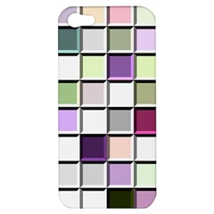 Color Tiles Abstract Mosaic Background Apple Iphone 5 Hardshell Case by Simbadda