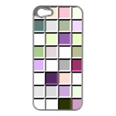 Color Tiles Abstract Mosaic Background Apple Iphone 5 Case (silver) by Simbadda