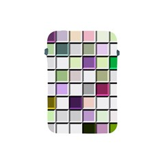 Color Tiles Abstract Mosaic Background Apple Ipad Mini Protective Soft Cases by Simbadda