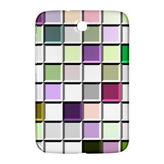 Color Tiles Abstract Mosaic Background Samsung Galaxy Note 8 0 N5100 Hardshell Case  by Simbadda