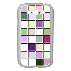 Color Tiles Abstract Mosaic Background Samsung Galaxy Grand Duos I9082 Case (white) by Simbadda